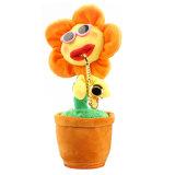 Flor de Dança de música de brinquedos para crianças raparigas de carga USB Toy com música Saxofone Sun Flower Music dançar cantando Electric Plush encantadora dança de simulação de vasos de flores