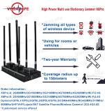 Sistema dell'emittente di disturbo del ronzio, emittente di disturbo di GPS, emittente di disturbo 6bands di alto potere/stampo stazionari, raggio del coperchio: 50-150m