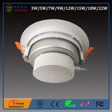 2,5/3/4/5/6/8 de pulgada 3-18W Instalación integrados SMD LED de luz tenue con la aprobación RoHS CE
