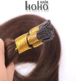 Producten van het haar plakten pre Bruin Menselijk Haar I van 16 Duim Uiteinde