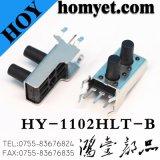 Le trou traversant à angle droit chaud de la vente 6*6mm commute le commutateur de tact (HY-1102HF)