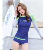 Занимаясь серфингом заниматься серфингом костюма подныривания неопрена повелительниц способа Swimsuit Длинн-Втулки костюма