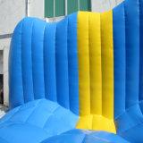 2018 nueva carrera de obstáculos inflables gigantes adultos deporte juego inflables 5K loco