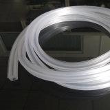 Carré d'extrusion de plastique clair profil flexible en plastique PVC creux