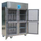 Halbe Tür 4 Gastronorm vertikale Gaststätte-Gefriermaschine mit der Selbstentfrostung