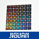 Hochwertiger Laser silberner anhaftender Anti-Fälschung 3D Hologramm-Aufkleber