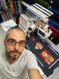 Holiauma quente vendendo uma máquina do bordado da cabeça 360*1200mm para o tampão