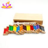 Caixa de cor de madeira de Montessori dos materiais prées-escolar os mais quentes novos para os miúdos W12f028