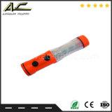 Funcionamiento con batería de emergencia Linterna multifunción martillo tráfico Baton