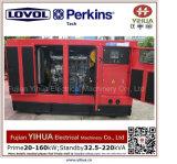 Lovol Perkins 엔진 20171012L가 강화하는 75kw/93.75kVA 침묵하는 디젤 엔진 발전기