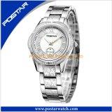 Fabrik-kundenspezifisches Firmenzeichen alle Edelstahl-Form-Dame Uhr