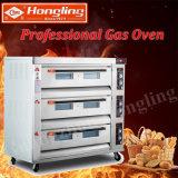 3 dek 9 Oven van het Dek van de Pizza van het Gas van het Dienblad de Commerciële voor de Fabriek van de Bakkerij