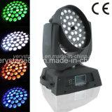 36*18W Rgbawの紫外線6in1洗浄LEDズームレンズの移動ヘッド