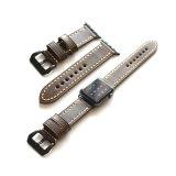 Fantastische Weinlese-echtes Leder-Uhrenarmbänder für Iwatch