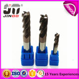 Jinoo 4 플루트 HRC55 높은 경도 단단한 텅스텐 탄화물 2 플루트 끝 선반