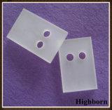 Piatto glassato opaco della scheda del quarzo con il foro rotondo