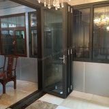 Алюминиевые створка профиля/дверь складчатости с двойным стеклом для сбывания