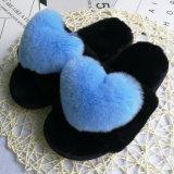 Women를 위한 형식 Real Fur Plush Sheepskin Home Fur Slipper