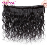 イボンヌの加工されていないペルーの人間の毛髪の自然な波の毛の拡張