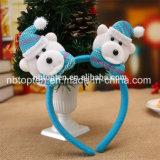 Natale chiaro del pupazzo di neve della renna della Santa degli accessori della fascia della fascia dei capelli di natale LED