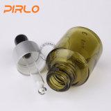 bottiglia verde oliva del contagoccia di vetro verde di 15ml 0.5oz con l'anello del metallo