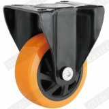 Mittlere Hochleistungs-PU-örtlich festgelegte Fußrolle (G6221)