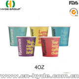 Promotion 4oz petit cuvette de papier de cuvette de papier/échantillon pour le supermarché