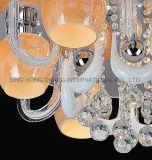 Elegantes candeeiros de tecto de vidro no projecto europeu