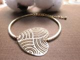소녀 숙녀를 위한 자연적인 돌 상감세공 모조 보석 팔찌 팔찌