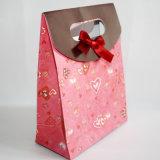 Saco feito-à-medida da venda por atacado da qualidade de Hight do saco de papel de presente de casamento das microplaquetas