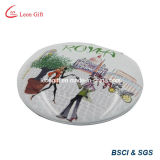 Изготовленный на заказ напечатанное логосом зеркало состава круглое для промотирования