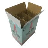 O papel ondulado por atacado que embala o suporte do vinho de seis blocos encaixota Fp600113