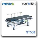 病院のステンレス鋼の忍耐強い転送の伸張器のトロリー