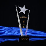A melhor qualidade personaliza a concessão de cristal com de cinco estrelas