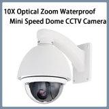 Camera van de Veiligheid van kabeltelevisie van de Koepel van de Snelheid van het Gezoem van het toezicht 10X de Optische Waterdichte Mini