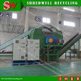 El eje de dos tiras de neumáticos Equipo para la planta de reciclaje de neumáticos usados