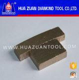 Le diamant scie le segment de lame pour le marbre de découpage