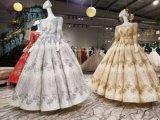 Rouge/gris/robe de bille de mariage de train mouvement circulaire d'or