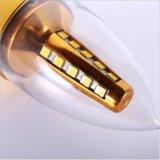 熱い販売の先の尖った蝋燭の形LEDのトウモロコシランプ