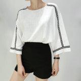 T-shirt Short-Sleeved en bonne santé de femmes de té de noir neuf de mode