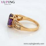 11442 Xuping 여자 사치품 18K 구리 합금에 있는 Gold-Plated 모조 보석 반지