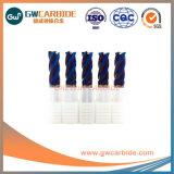 HRC45/50/60 단단한 탄화물 2/3/4 플루트 편평한 끝 선반