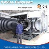 Cadena de producción acanalada del tubo de la pared doble de PVC/PE/PP/línea plástica de la protuberancia del tubo