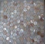 Белая раковина 25mm0 свежей воды на мозаике сетки