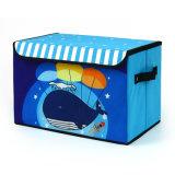 Oxford coloridos dibujos animados de la caja de almacenamiento de juguetes de tela multifunción