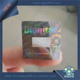 Промойте алюминиевых голограмма воздействие на наклейке печать