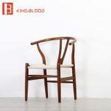 옥외 등나무 의자 나무로 되는 뼈 의자 재 목제 등나무 Y 의자
