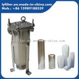 Cárter del filtro de bolso del Aqua del acero inoxidable del 100% para la purificación industrial del tratamiento de aguas