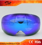 De verwisselbare Douane van de Lens Uw Eigen Beschermende brillen van de Sport van Snowboarding van de Riemen van het Embleem