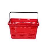 Qualitäts-Loch-Plastikeinkaufskorb-Speicher-Griff-Körbe